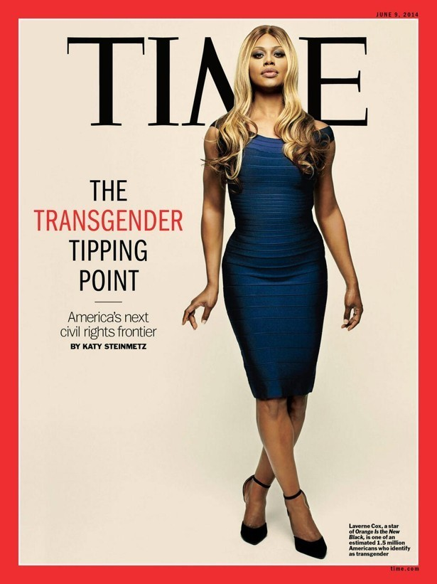 Laverne Cox on Cover of Time Magazine (2014) - Link to Image: http://i63.tinypic.com/122ot44.jpg