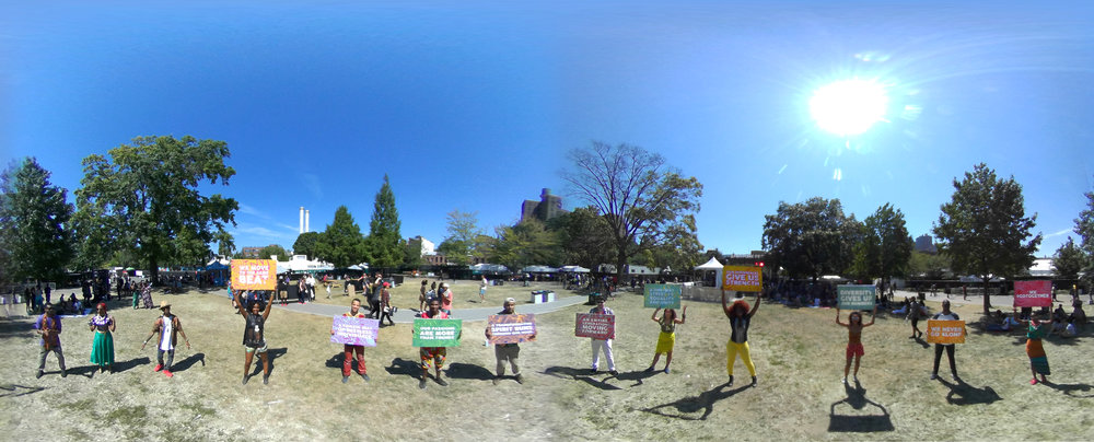 This was a 360 image we created to accompany the 360 video we shot at the festival.