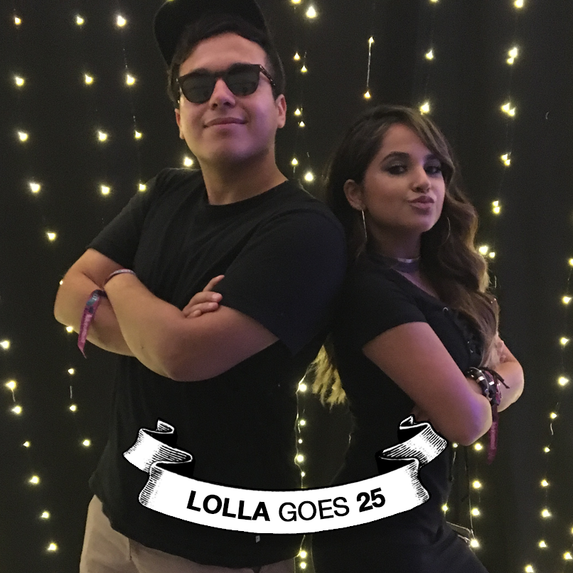 Becky G and Bryant Eslava for the 25th anniversary of Lollapalooza