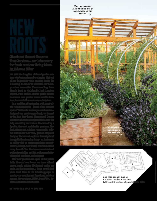 Sunset Magazine showcases its new Sonoma Test Gardens, designed and ...