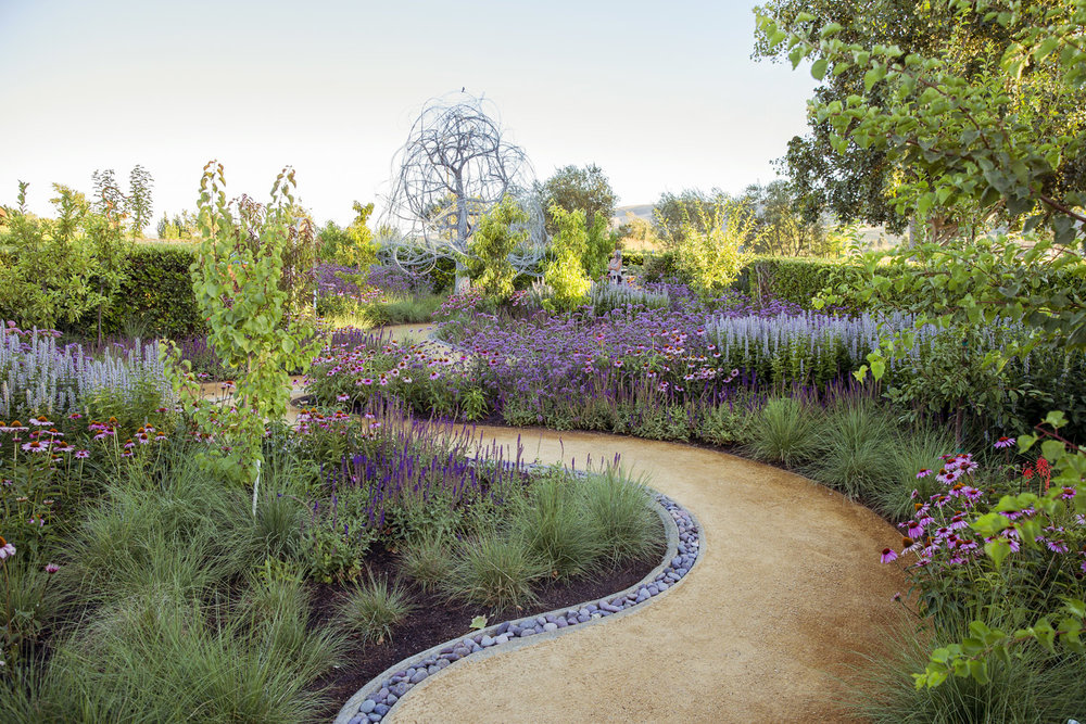 Photos Of The Garden Installation Courtesy Of Linda Lamb Peters/Sunset  Magazine.