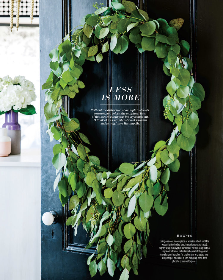 Alethea showcases several fresh takes on the holiday wreath in the ...