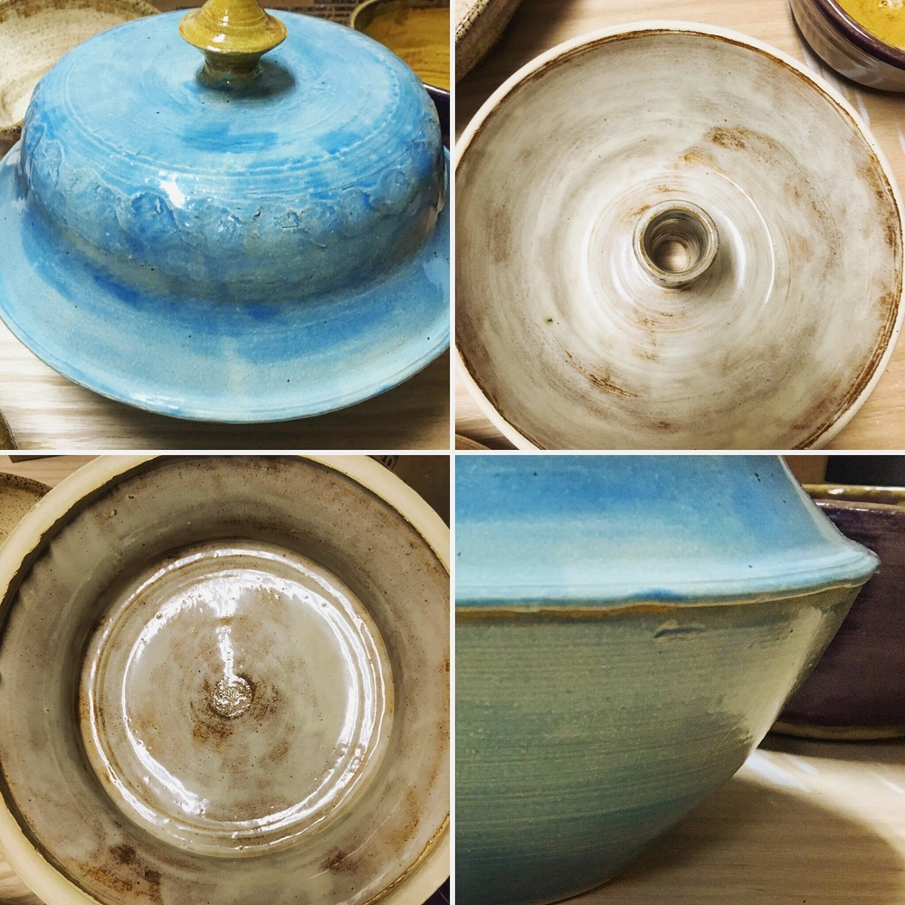 Stoneware Steamer Inside and Outside