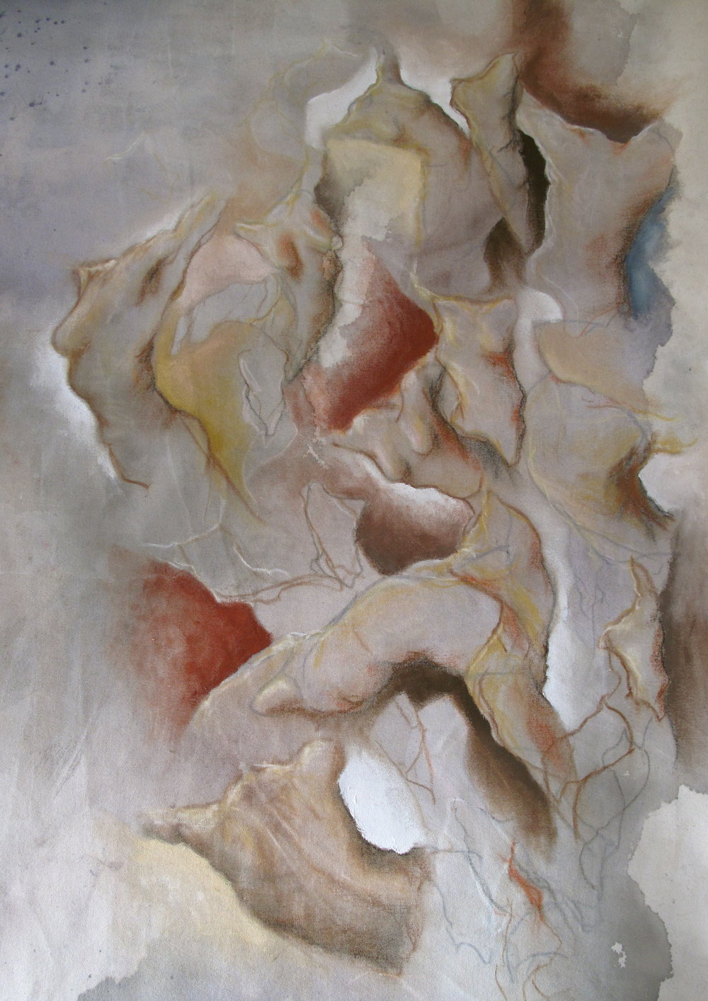 (detail) Sleep.8 x 2.1m / oil & ink on canvas. 2015