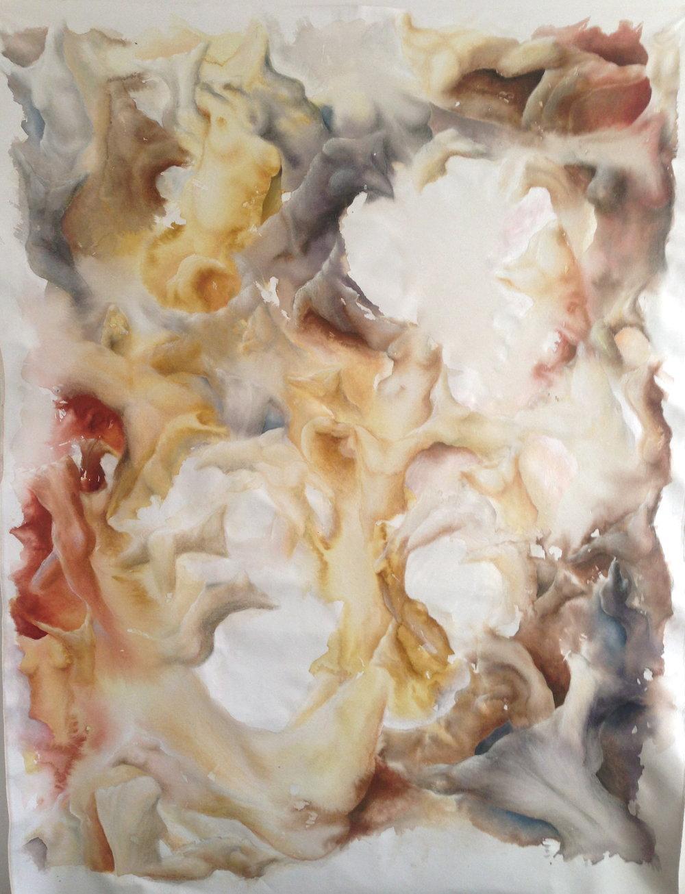 Dance II. 1.3 x 2.1m. Ink, Pastel & Oil on Canvas. 2015