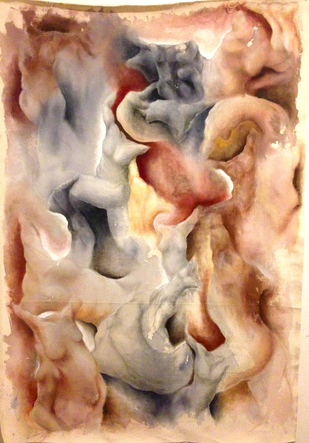 Limbo. Ink, Pastel & Oil on Canvas. 2015
