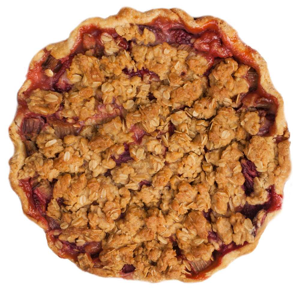 classic strawberry rhubarb pie crumb crust