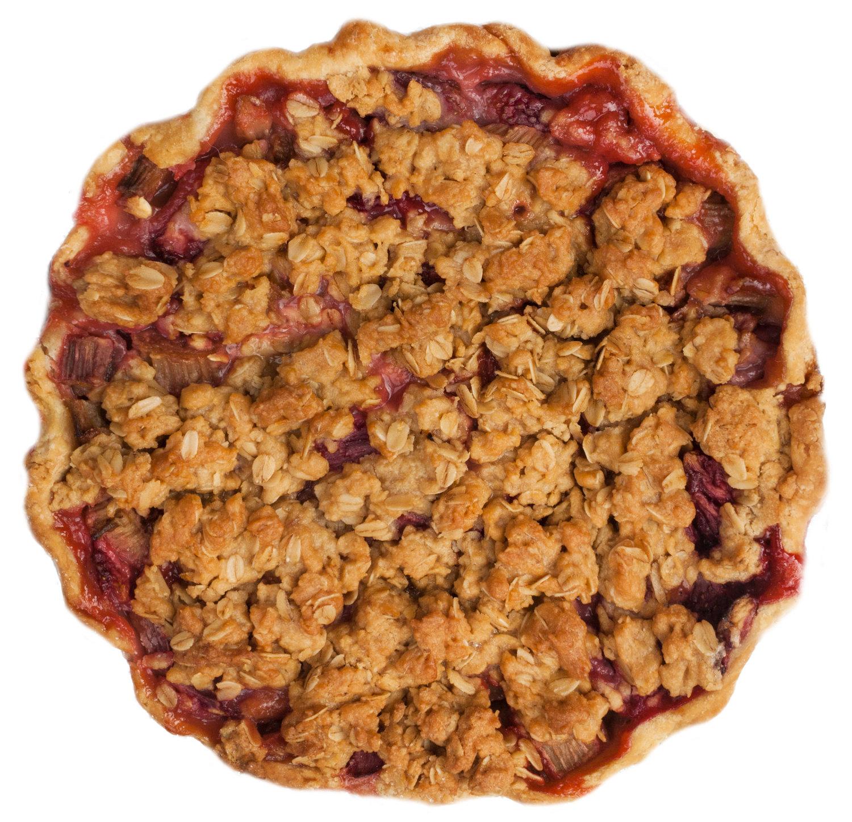 classic strawberry rhubarb pie crumb crust