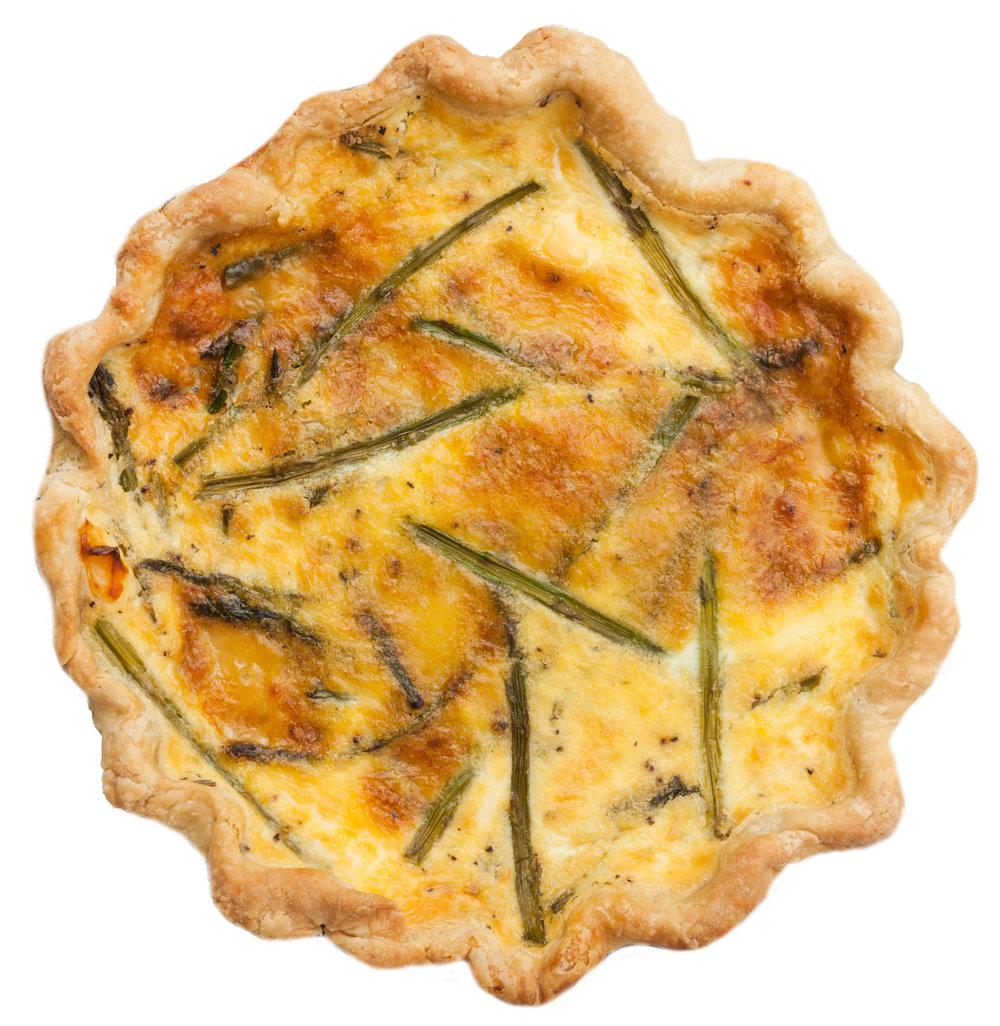 savory asparagus brie quiche