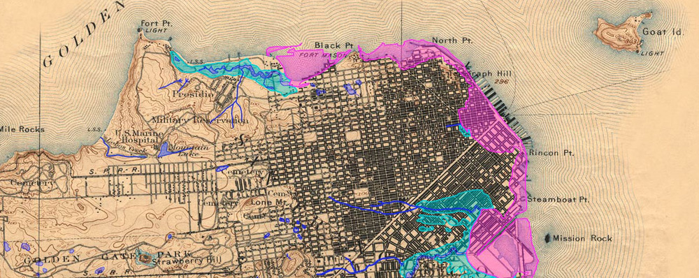 San Francisco Historical Creek Map