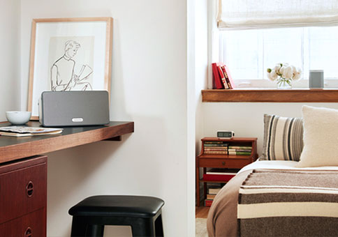 Party-mode - The more rooms, the better.The real power of a Sonos system kicks in when you add more speakers. Suddenly you're playing different songs in different rooms. Or grouping all your speakers together to blast one big jam to every room at once.