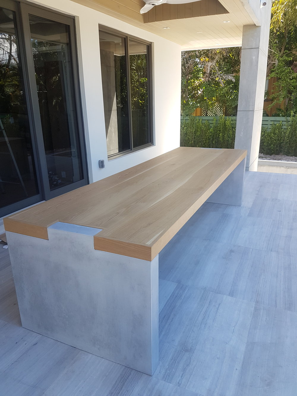 Wood and Concrete Table