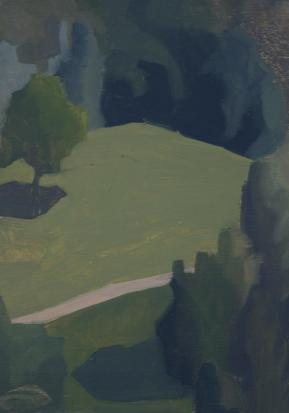 Sketch: Fields below the city walls