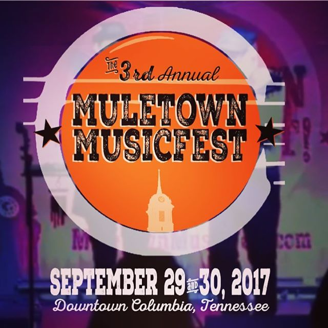Elle Machos be playing this weekend!!! A Mini road trip to Columbia TN will do you good!! @muletownfest this weekend we play Sat sept 30th @8:30 @varietyrecordshop