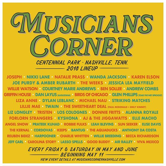 Oh yeah babies we hit the big times! June 16th for your calendars, we will be playing in the Centennial Park for @muscornernash  Free & friendly for all the family. Kisses 😘