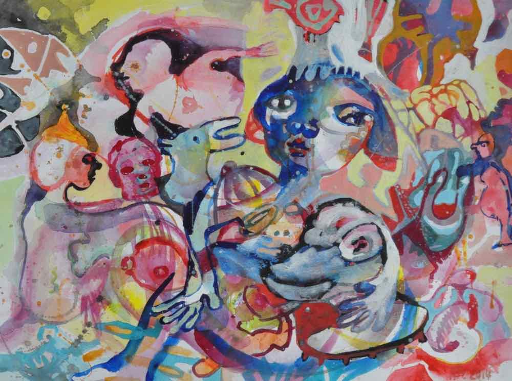 Femina, Gouache on paper, 30x40cm