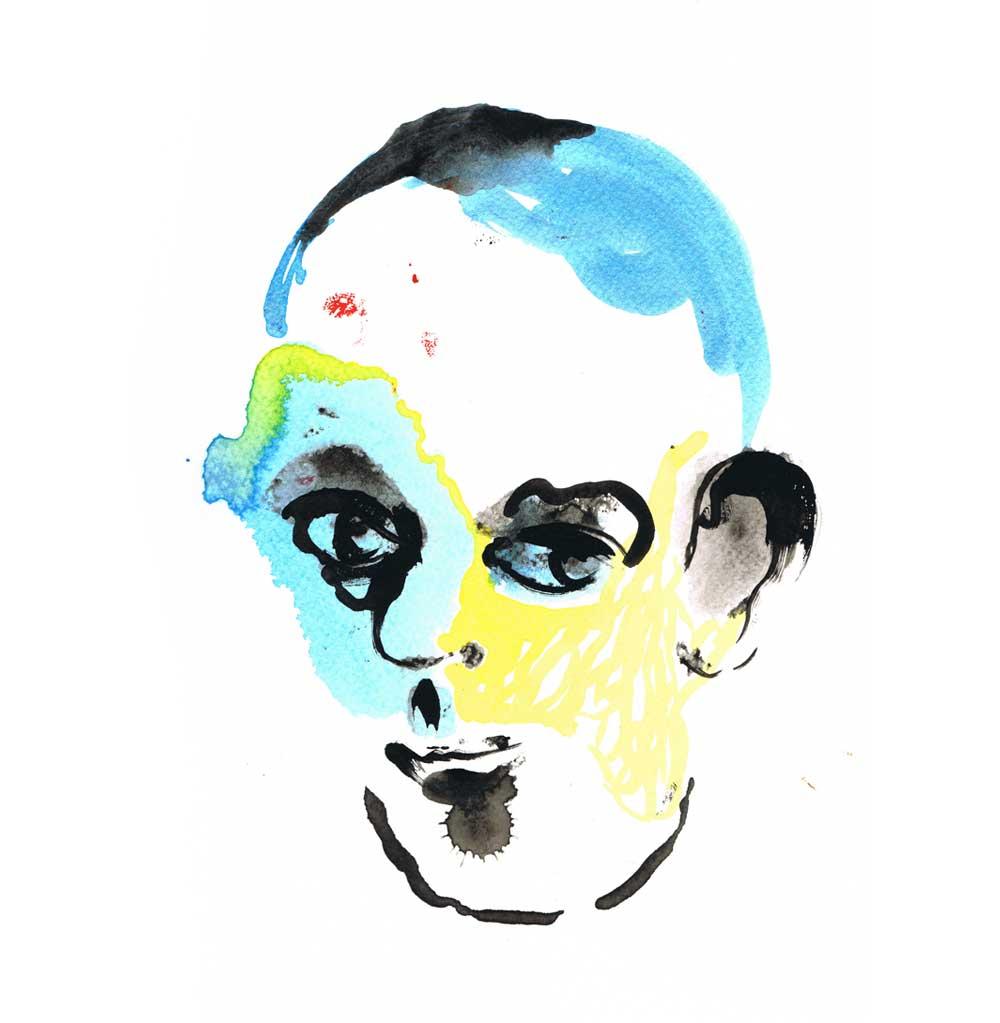 Charmer, gouache on paper, 21x29,7cm