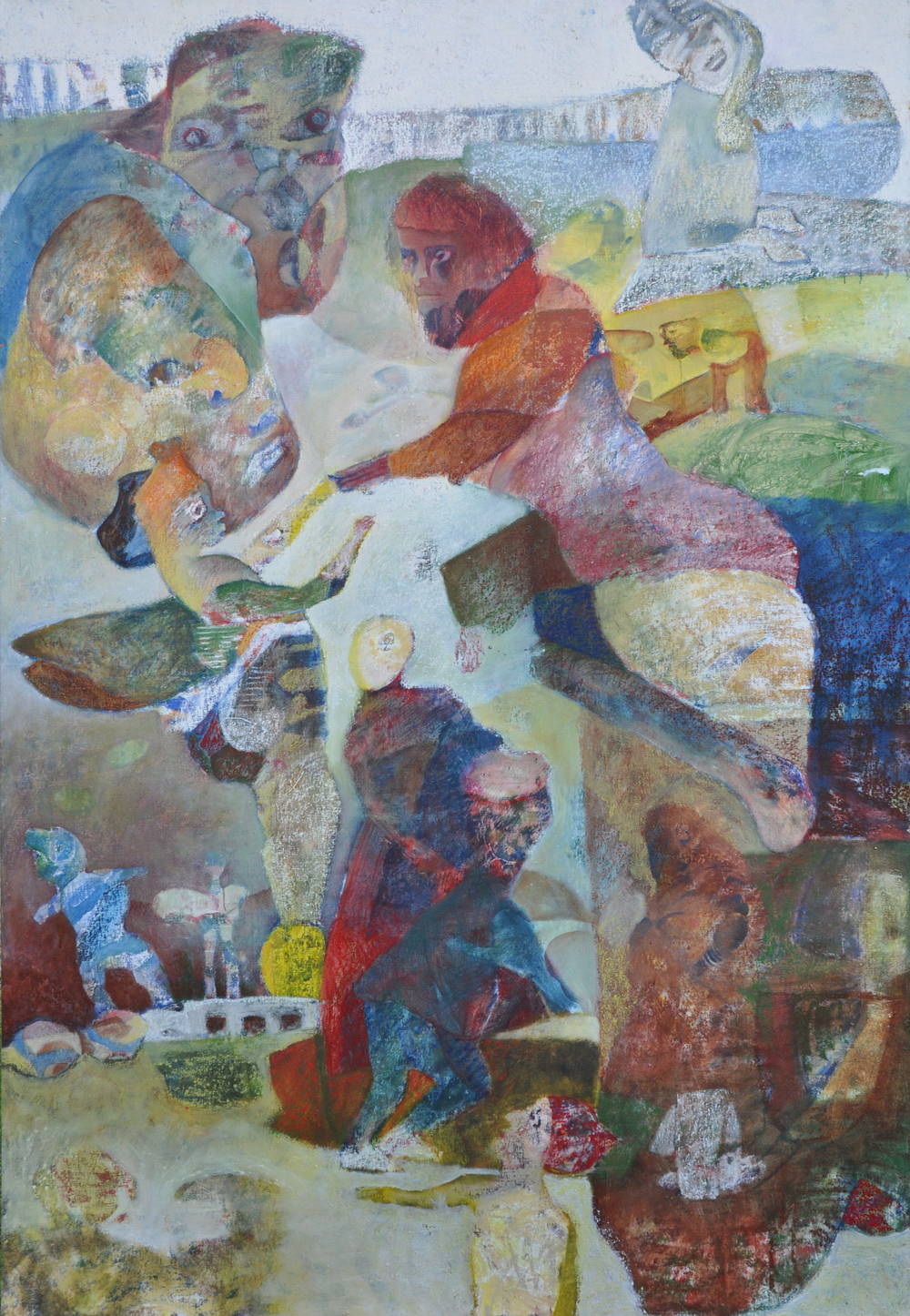 Budbringeren, oil on canvas, 239x153cm