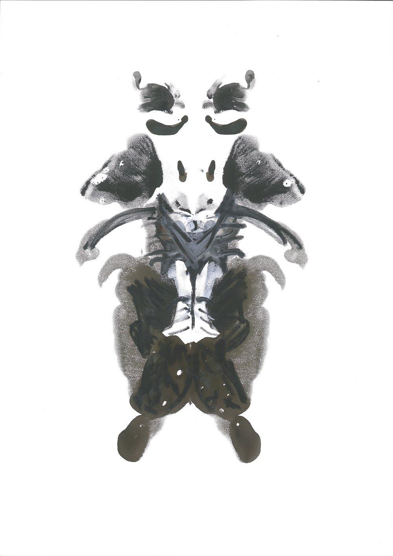 Nemesis, gouache on stonepaper, 21x30cm