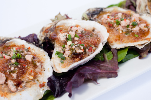 Baked Oysters Bleu