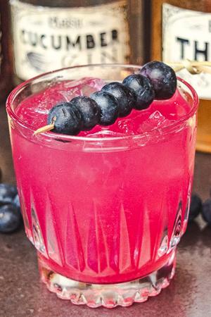 Blueberry Thyme Rickey