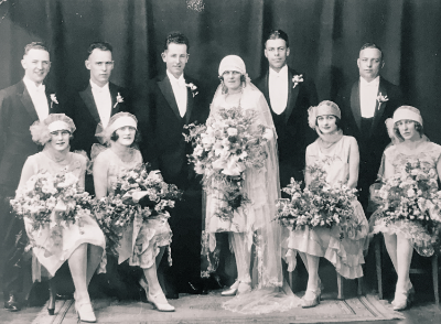 Claude Vivian Osgood (1900-1943) & Cecilia Evelyn Mary Collins (- 1977) Wedding photo (1929)