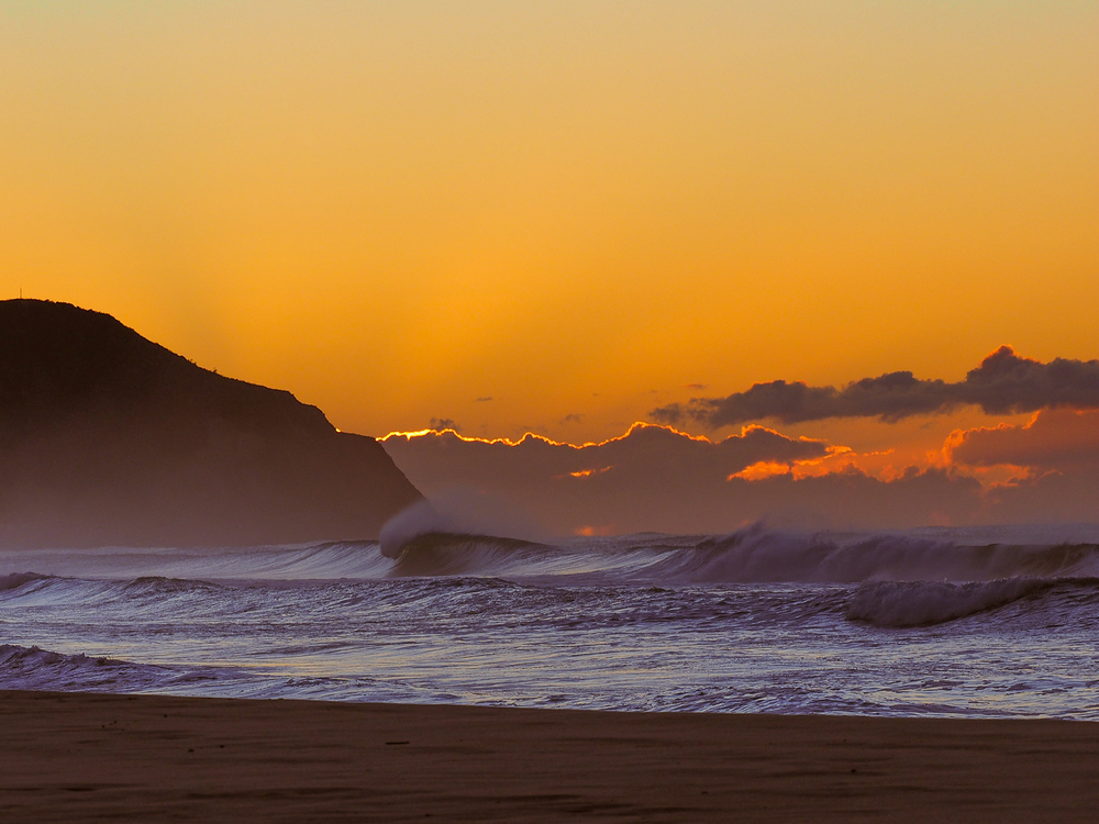 Dawn at Wainui Beach. Gisborne, NZ