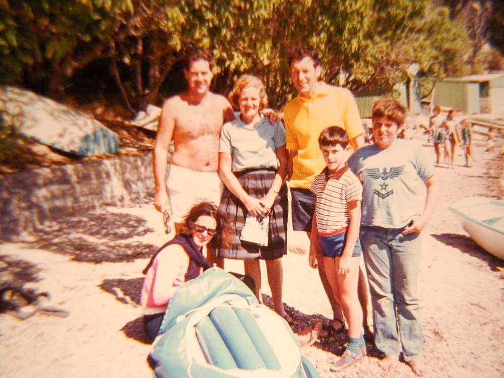 Paradise Bay. My Dad in yellow shirt.