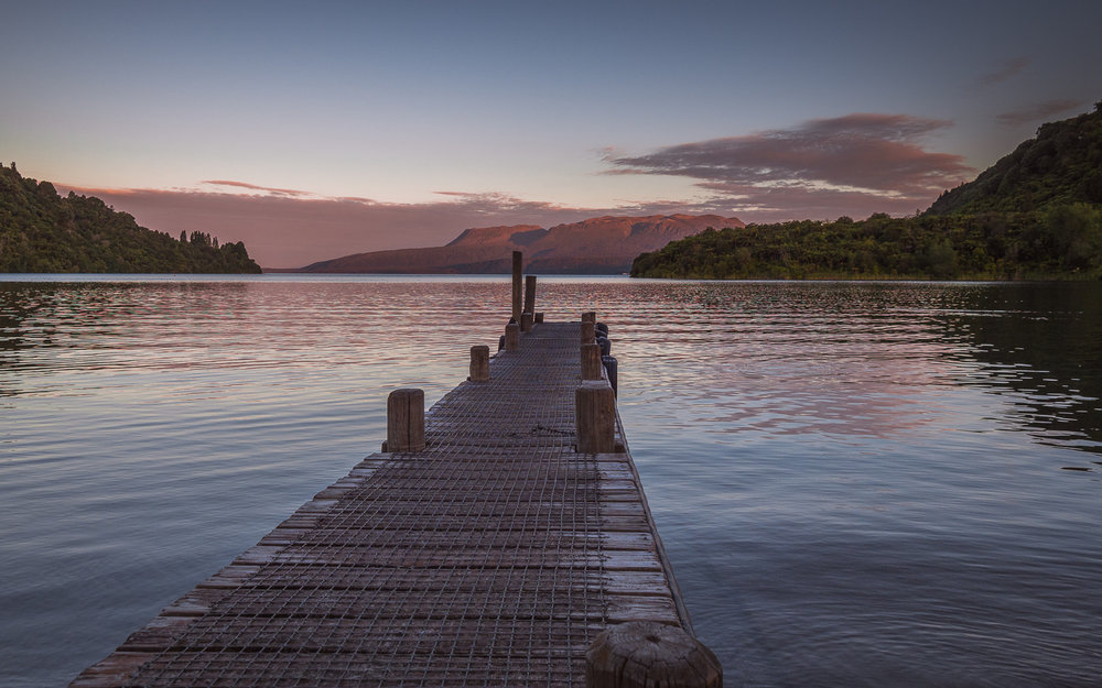 Dusk. Lake Tarawera, NZ. P1280292