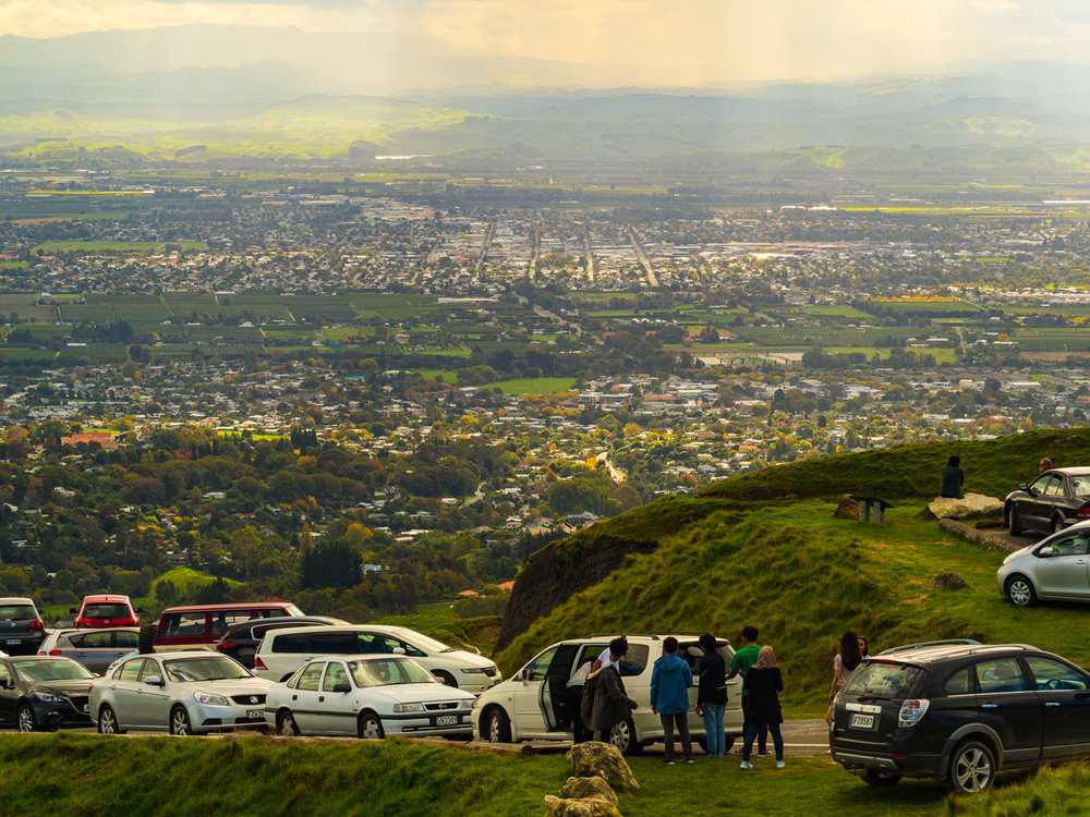 Havelock North and Hastings from Te Mata Peak, Hawkes Bay.