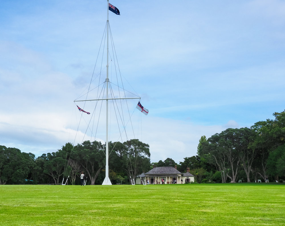 Waitangi Treaty House and grounds. Waitangi, Bay of Islands, NZ.