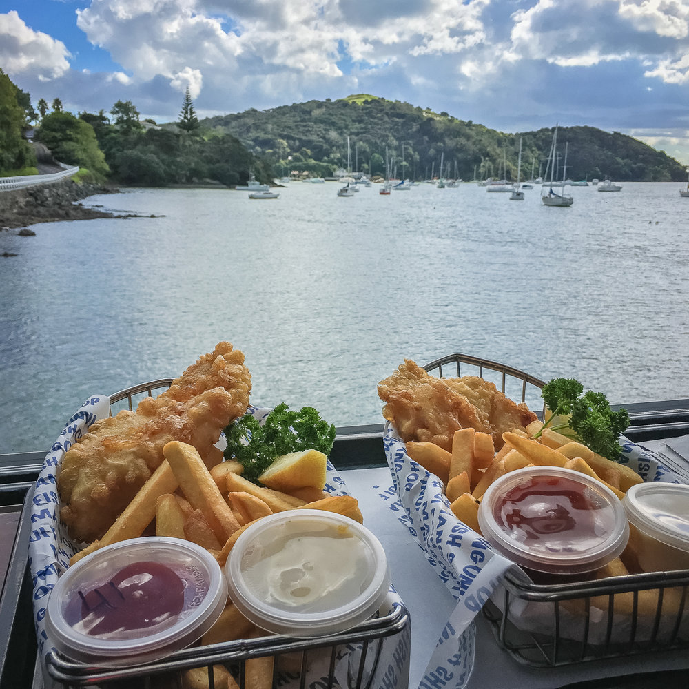 Mangonui Fish & Chips. What a taste! What a view!