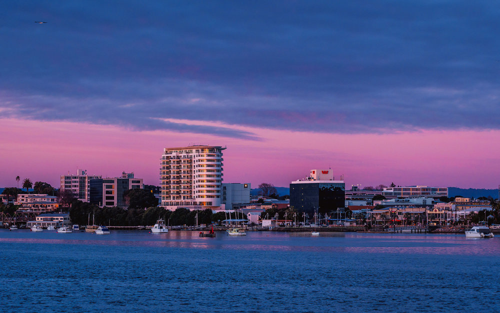 Dawn. City of Tauranga, NZ.