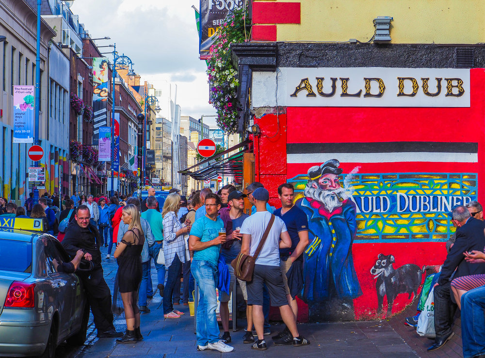 Friday afternoon in the streets of Dublin, Ireland.