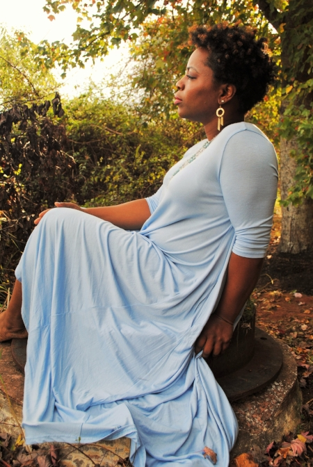 Meditating blue dress.JPG