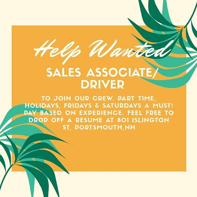 Come join our team!!!! 🌻💐🌼🌷