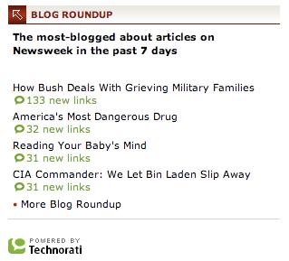Newsweek Blog Roundup