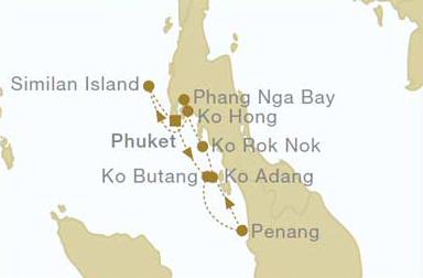 7 Night Southbound Thailand Itinerary    March 21, 2020