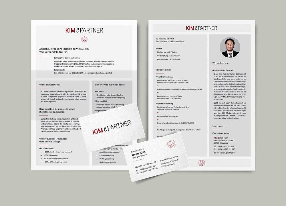 Kim&Partner • Logoentwicklung und Selbstdarstellung