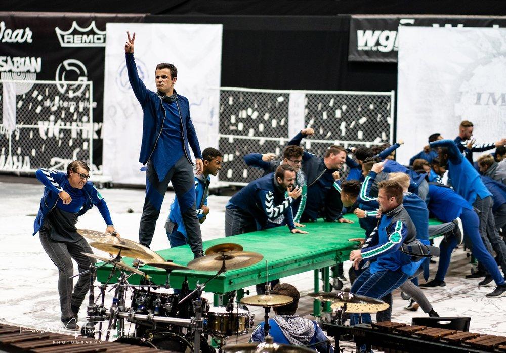 "Pulse Percussion performing ""Divided We Fall"" at WGI Championship Finals."