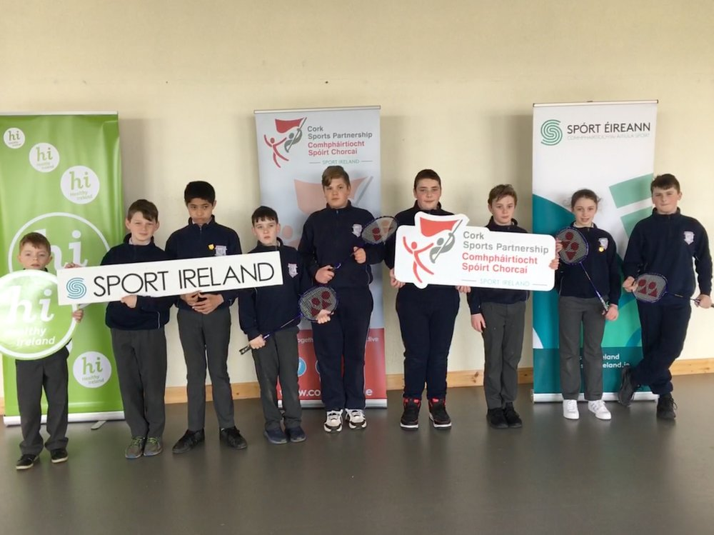 James Kirby from  Cork Sports Partnership  came to visit and brought us some terrific Badminton equipment. Badminton coaching will start in school after easter with Tanya from Cork Sports Partnership joining us to coach for two of the sessions. There will be a Badminton blitz at Neptune on May 16th. This initiative is funded through  Northside Sports Hub