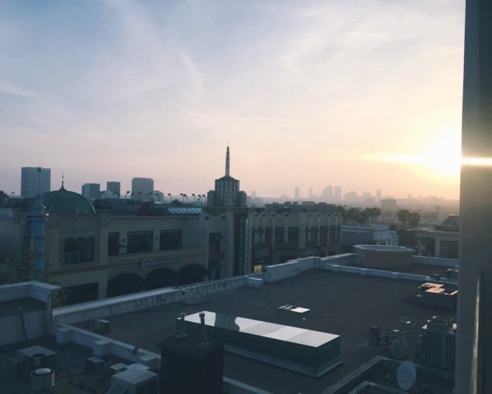 Almost sunset in LA