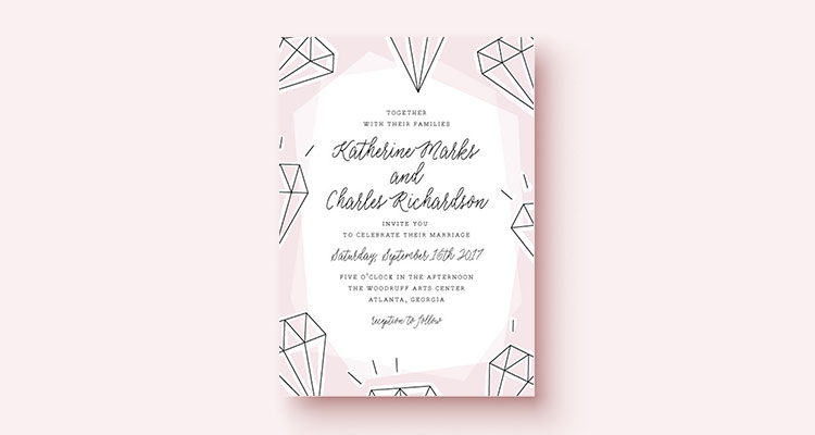 Design challenge wedding invitations briana goad i cant really explain why all of a sudden ill be really into something but this time it was gemstones stopboris Image collections