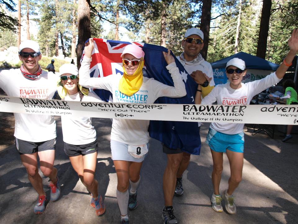Badwater Finish TeamCathTodd