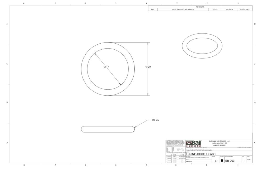 0-Ring Sight Glass EB-003