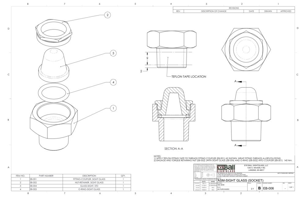 ASM Sight Glass (Socket) EB-006