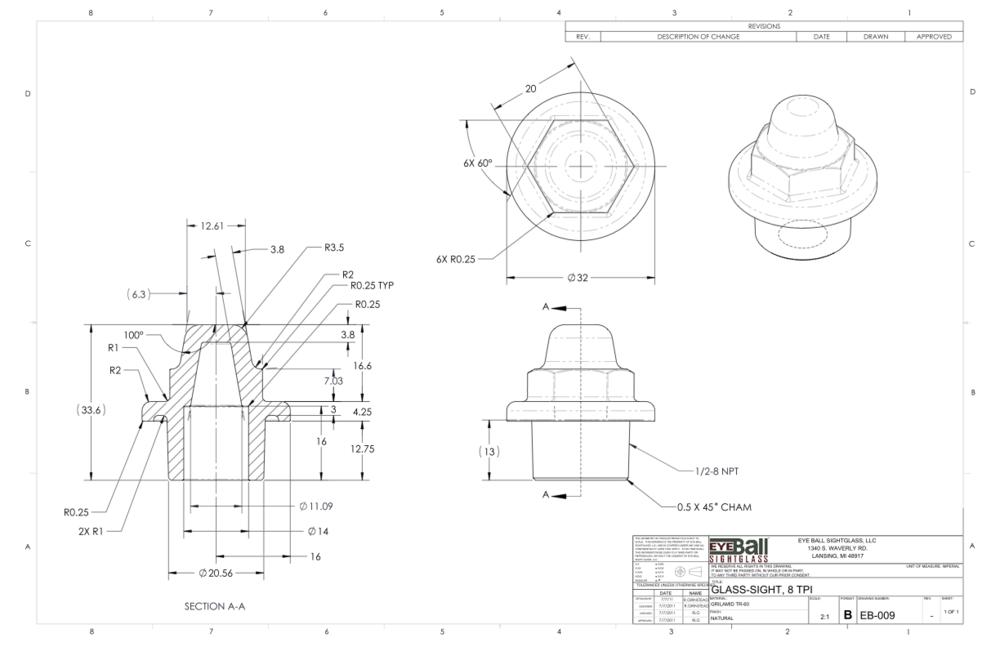 Glass Sight 8 TPI EB-009