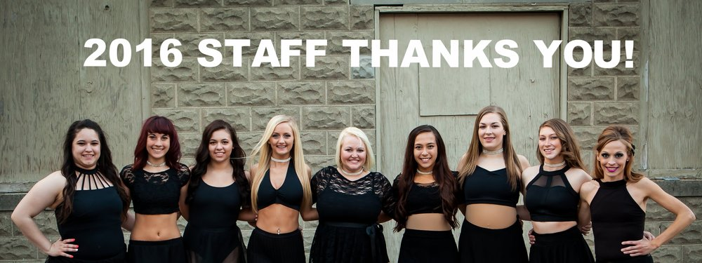 Our 2016 Staff team THANKS YOU for joining or returning!
