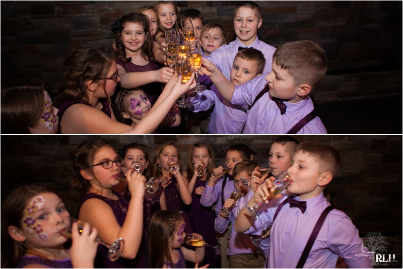 And the toast of course…..not to worry, they had sparkling apple juice and thought they were BIG TIME!!