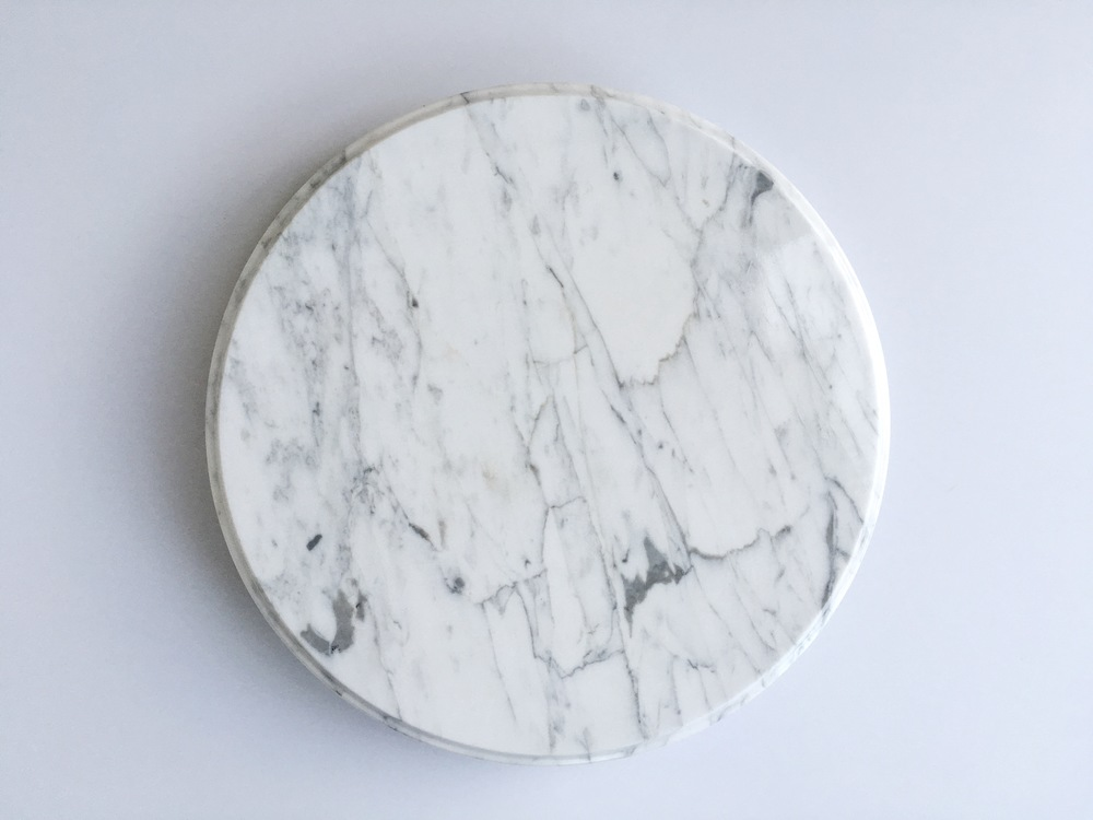white marble lazy susan stand